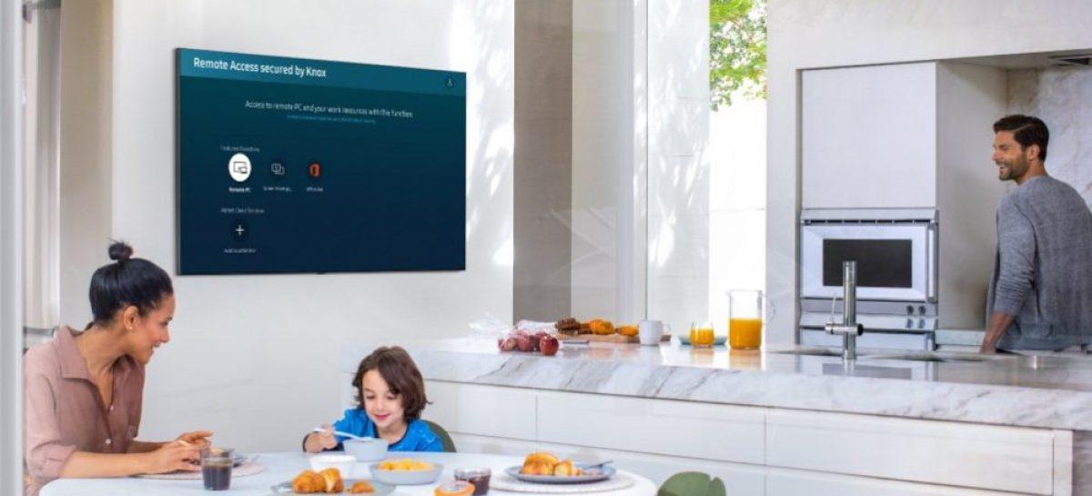 Trabajar y cuidar los niños a punta de tecnología